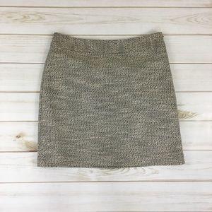 Grey a-line skirt cream by Ann Taylor LOFT